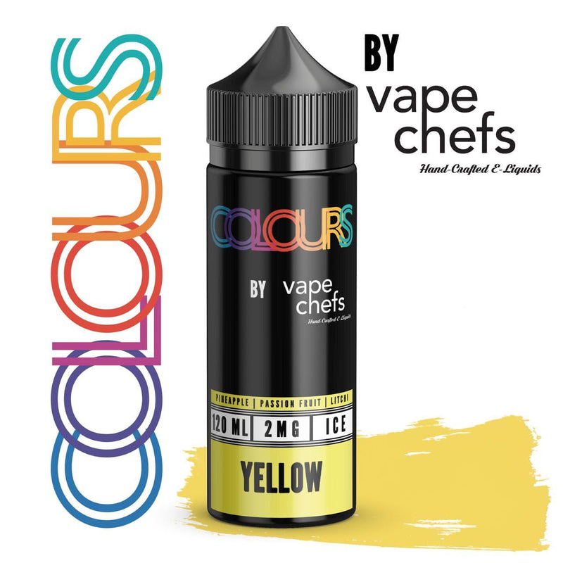 Colours By Vape Chefs Yellow 120ml - Downtown Vapoury
