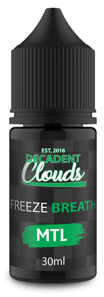 Decadent Clouds Freeze Breath Mtl 30ml - Downtown Vapoury