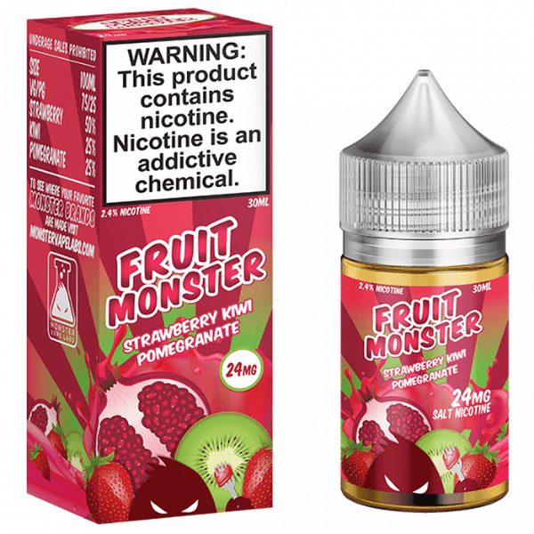 Fruit Monster Strawberry Kiwi Pomegranate 30ml (Nic Salt) - Downtown Vapoury