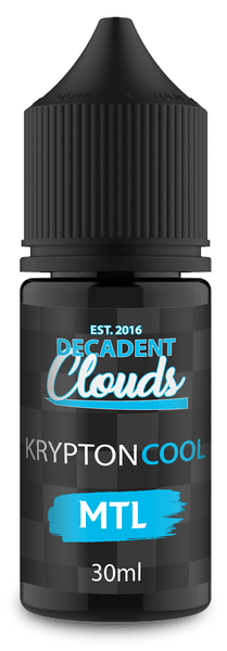 Decadent Clouds Krypton Cool Mtl 30ml - Downtown Vapoury