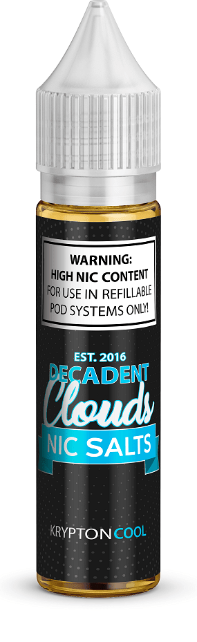 Decadent Clouds Krypton Cool Salts 20ml - Downtown Vapoury