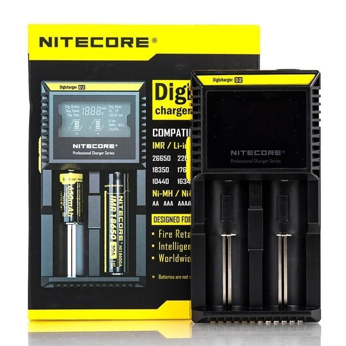 NITECORE D2 BATTERY CHARGER (2-BAY) - Downtown Vapoury