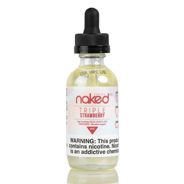 Fusion - Triple Strawberry Naked 100 - 60ML - Downtown Vapoury