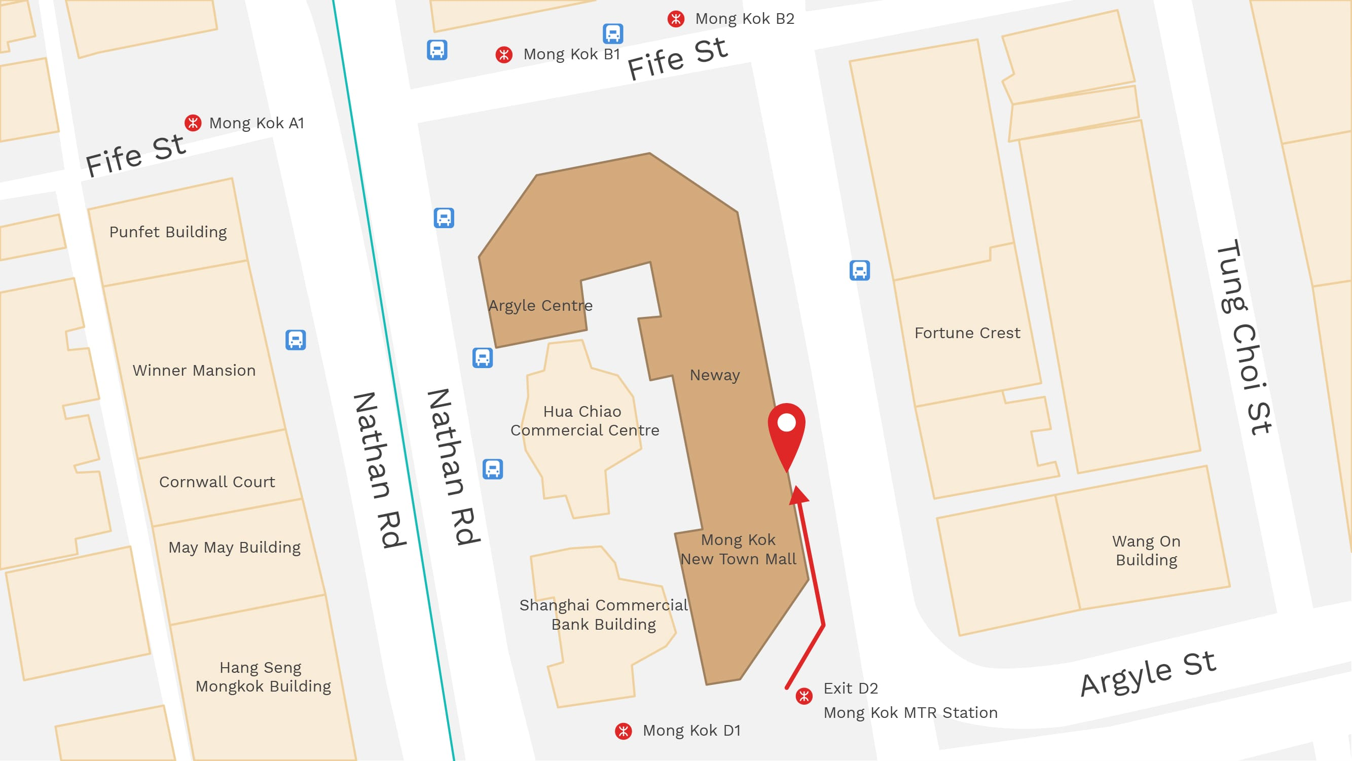 Map of Shop in Mong Kok