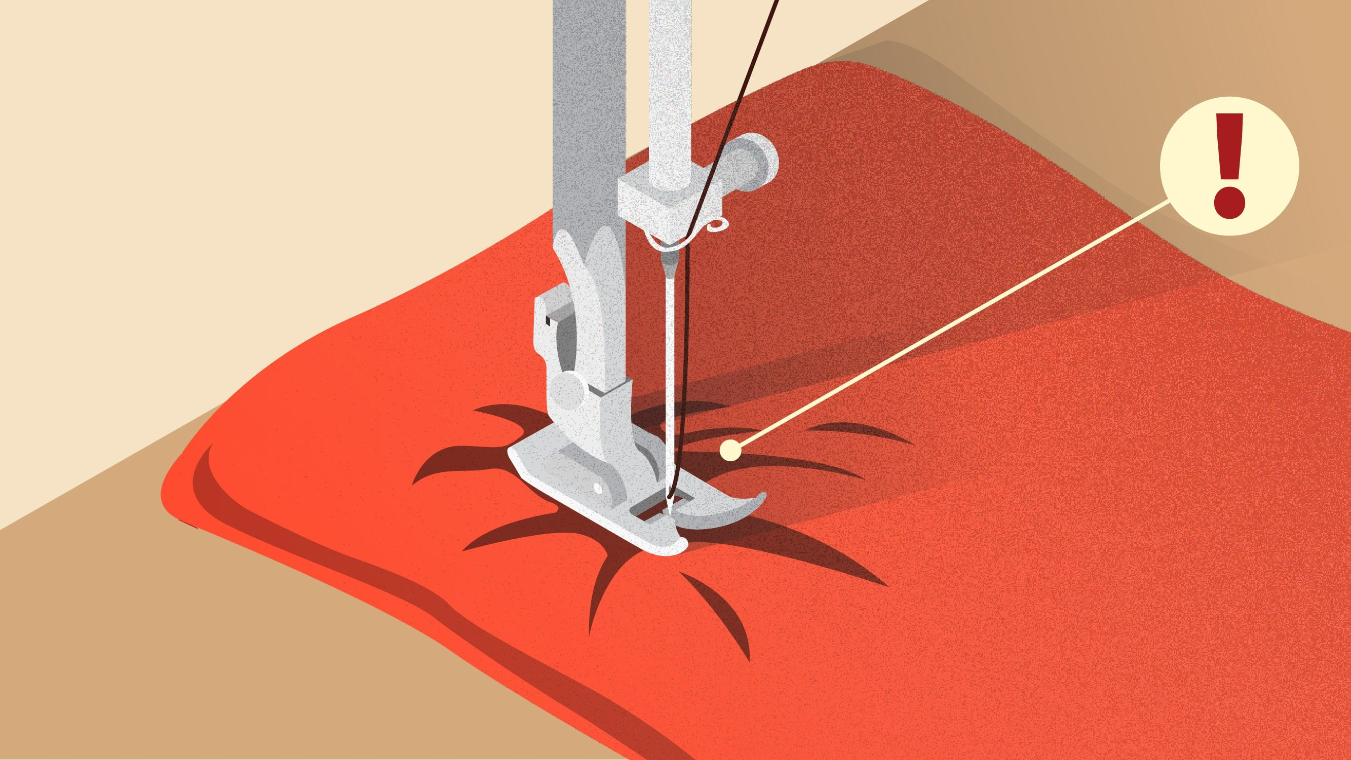 The sewing machine cannot sew the fabric. | sewing tutorial © Singer® Hong Kong