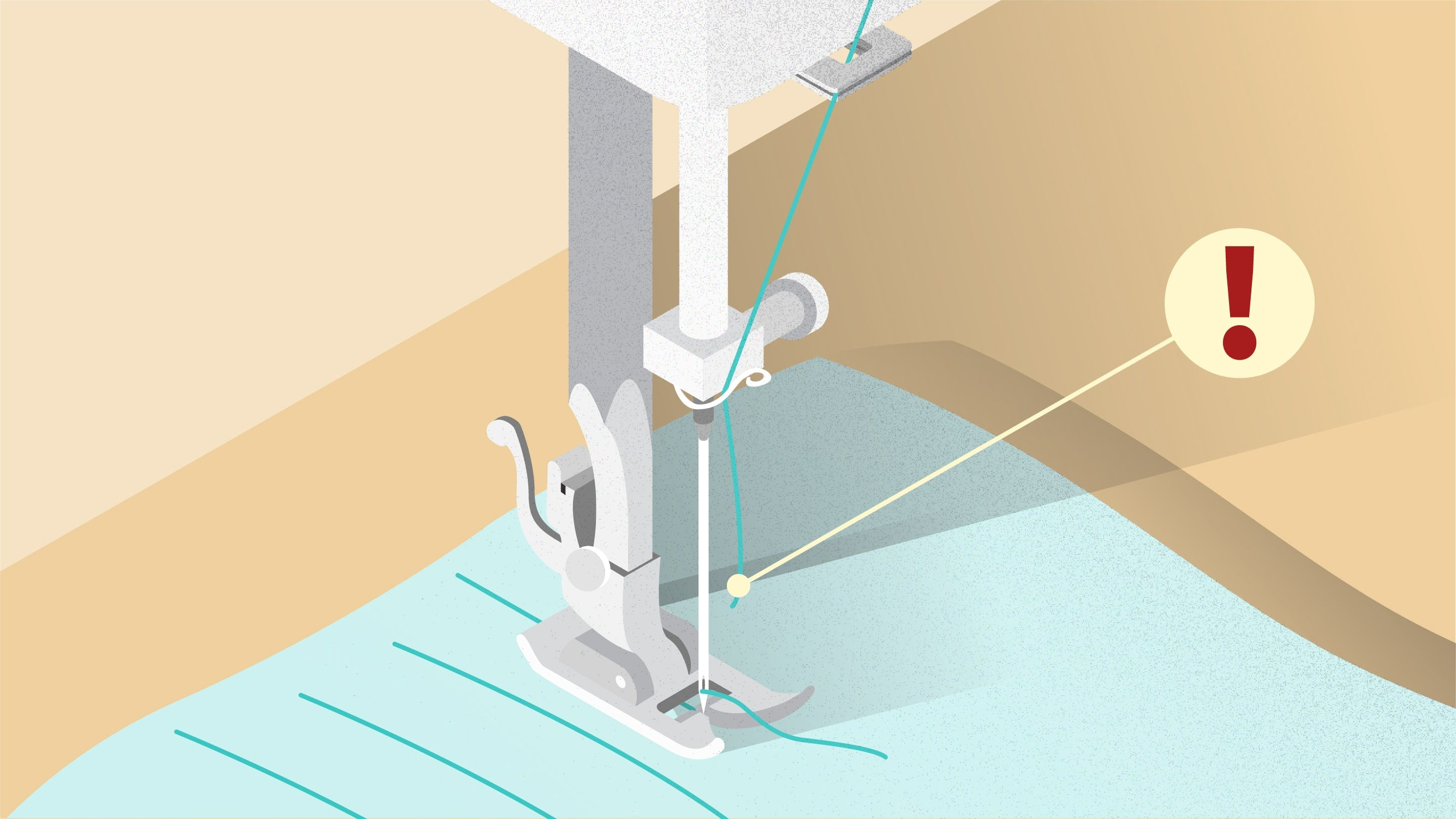 Upper thread breaks when sewing is another common problem.  | sewing tutorial © Singer® Hong Kong