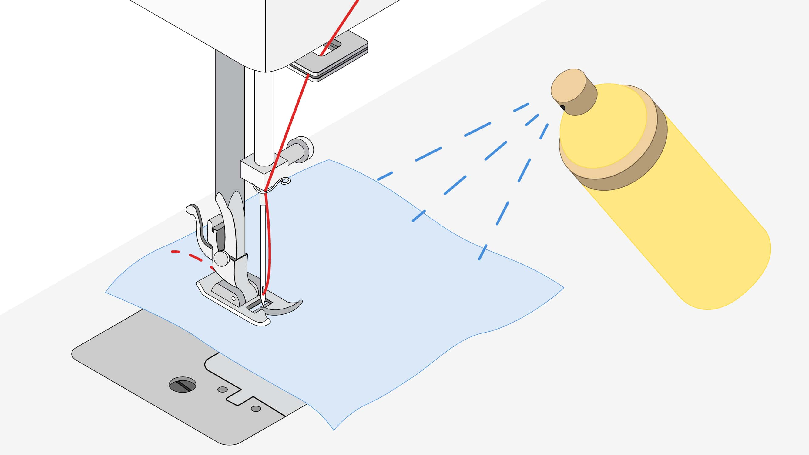 Silicone-based fabric lubricant can reduce bursting of weave threads | Sewing tutorial © Singer® Hong Kong