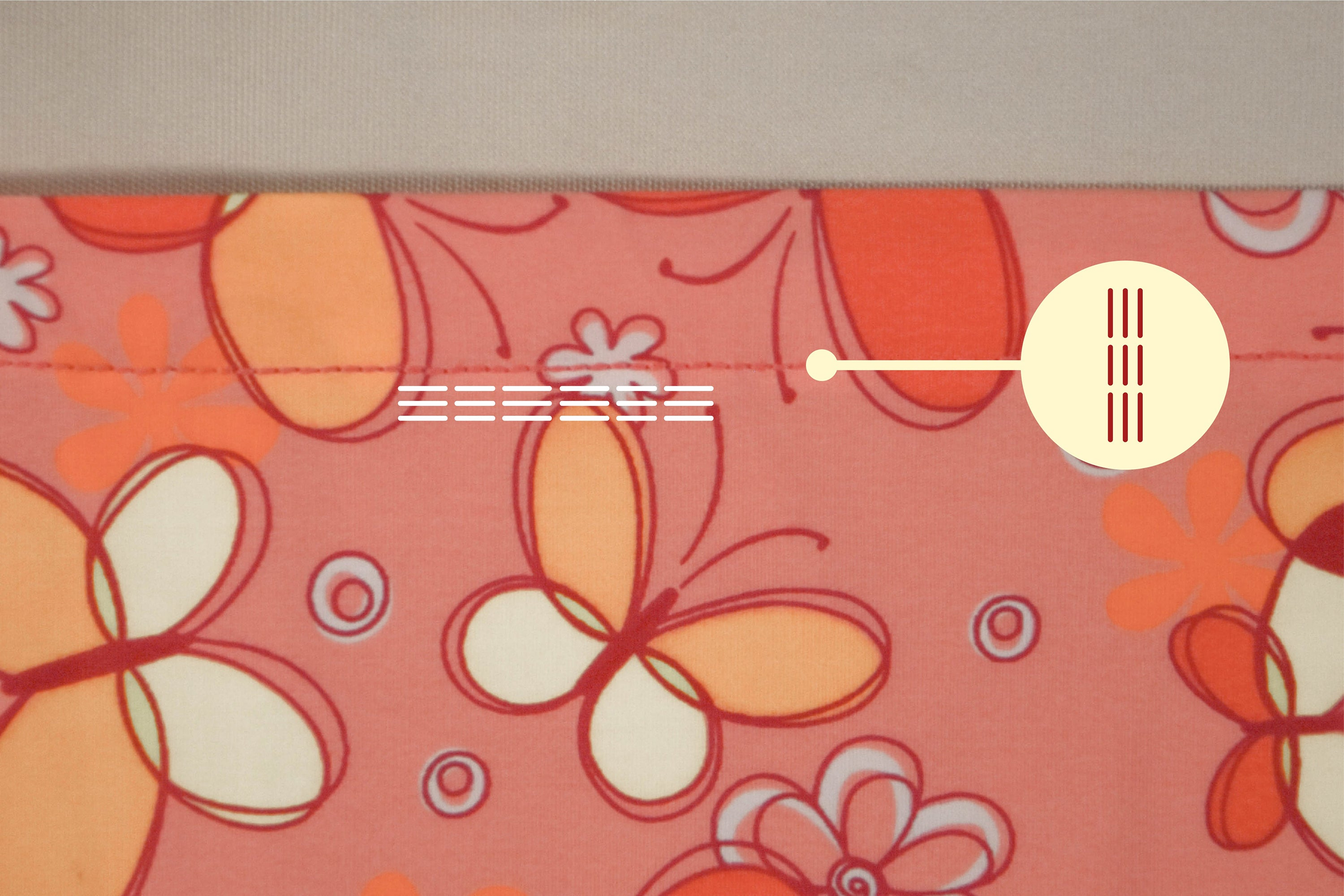 Stretch triple straight stitch | sewing tutorial © Singer® Hong Kong