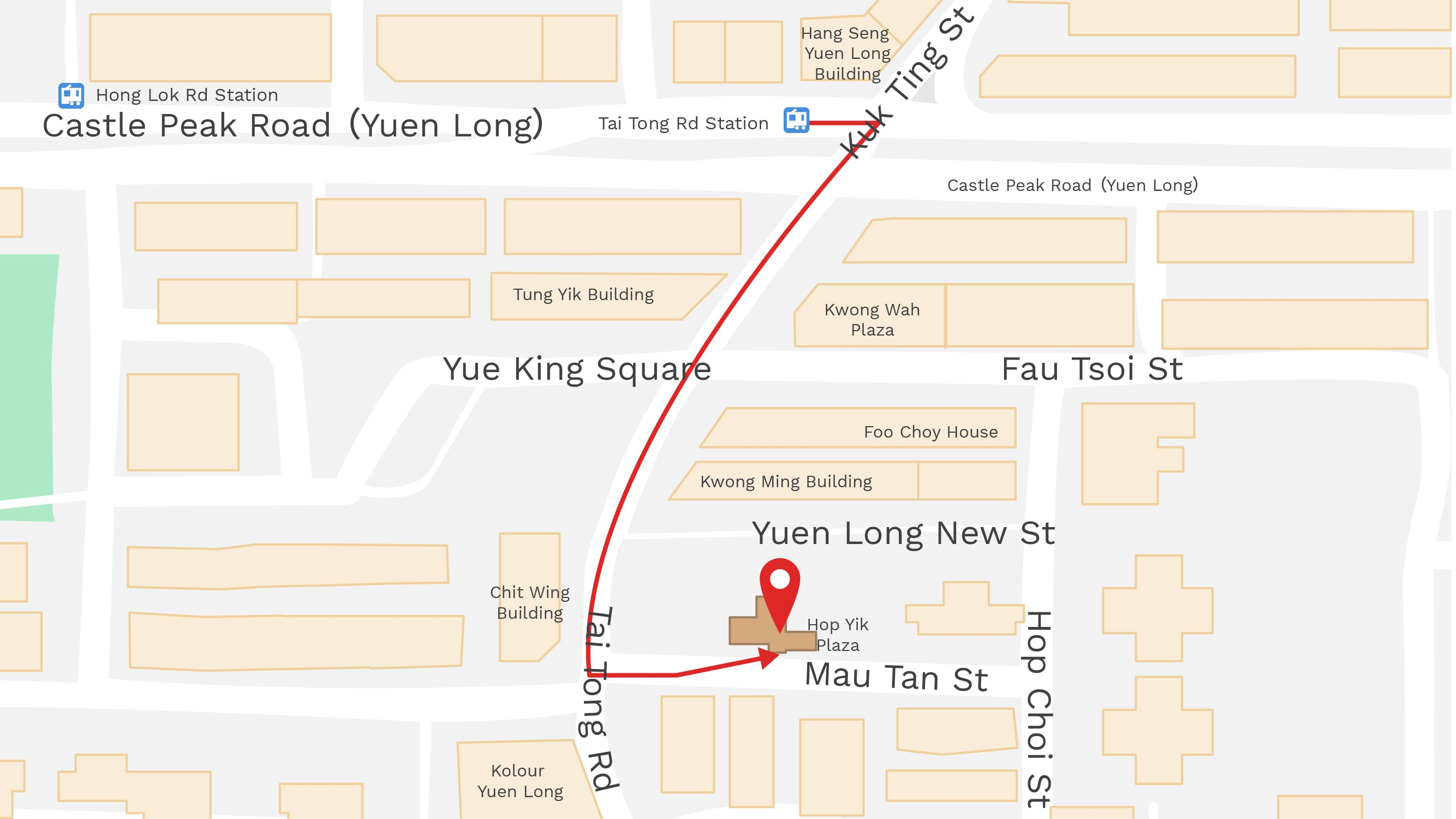 Map of Shop in Yuen Long