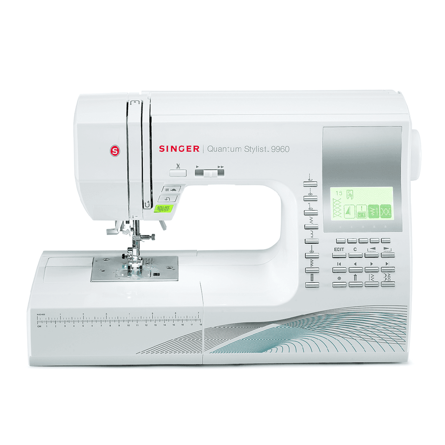 SINGER® Quantum Stylist™ 9960 computerized sewing machine. 勝家® Quantum Stylist™ 9960 電腦縫紉機