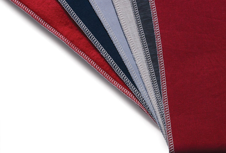 Seams sewn by Heavy Duty™ 14HD854 overlocker on different types of fabric. Heavy Duty™ 14HD854 鈒骨機於不同布料的縫邊