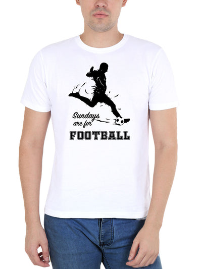 Sundays Are For Football Men's White Round Neck T-Shirt