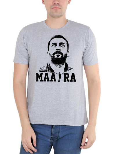 Maara Surya Soorarai Pottru Men's Grey Melange Tamil Movie Round Neck T-Shirt - Crazy Punch