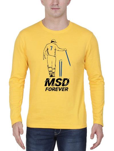 MSD Forever Men's Yellow Full Sleeve Round Neck T-Shirt - Crazy Punch