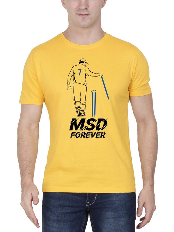 MSD Forever Men's Yellow Round Neck T-Shirt - Crazy Punch