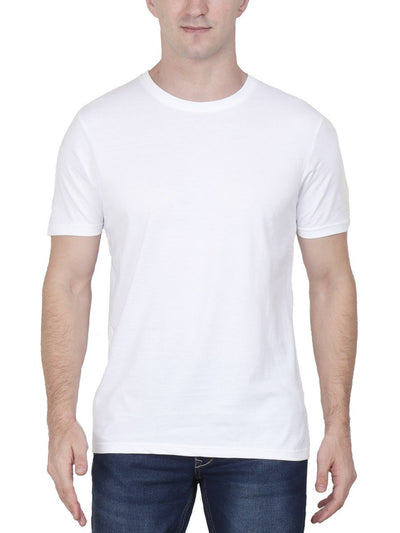 Plain Men's White T-Shirt - Crazy Punch