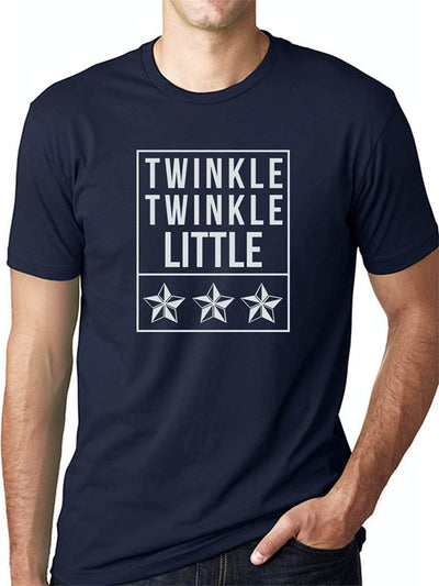 Twinkle Twinkle Little Star Thalapathy Vijay Men's Navy Blue Half Sleeve Tamil Round Neck T-Shirt - Crazy Punch