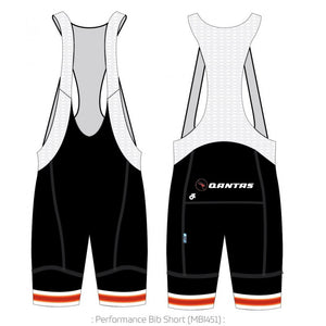 Qantas Retro Roo PERFORMANCE Bib Shorts
