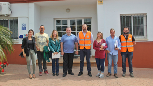 Visit to the Urbaser recycling plant, Casares, May 2018