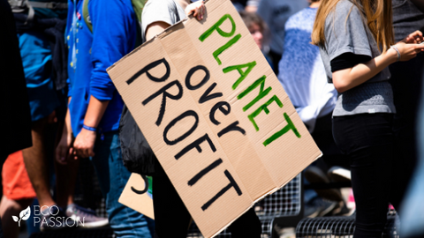 Environmental protest sign