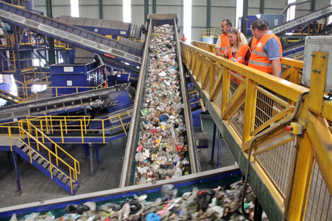 Inside the Urbaser recycling plant, Casares, Spain