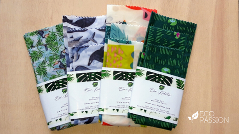 Reusable vegan soya wax wraps