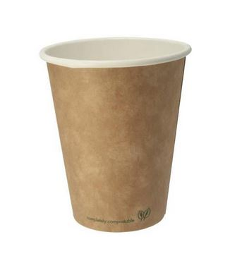 Paper cups 240ml, compostable, biodegradable (pack of 1000)