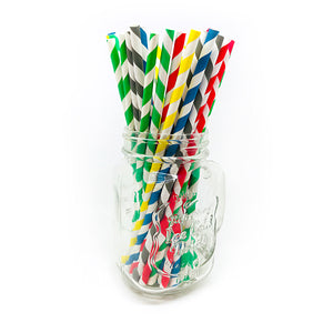 Paper straws multi-coloured design - pajitas de papel multi-color