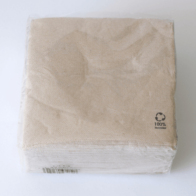 Recycled paper napkin serviette, 2 ply