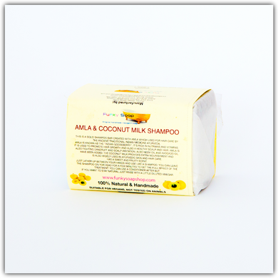 Amla and Coconut Milk Solid Shampoo (120g bar)