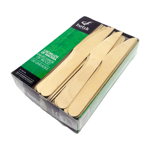 eco passion bioegradable disposable wooden knives