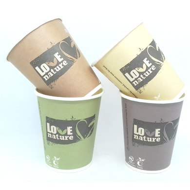 Eco Passion biodegradable paper cups PLA lined 384ml