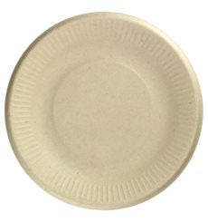 Plate sugar cane (bagasse) biodegradable 15cm