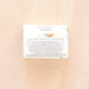 Solid shampoo - champú sólido - Tea Tree & Neem Oil