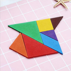 FREE!! Wooden Colored Tangram Puzzle - Montessori Toy Box