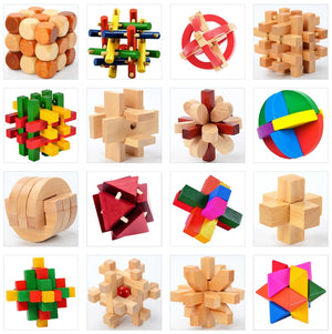 FREE!! Brain Teaser Wooden Interlocking Puzzles - Montessori Toy Box