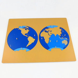 Montessori Puzzle Map of the Oceans - Montessori Toy Box