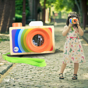 FREE!! Rainbow Kaleidoscope Wooden Camera - Montessori Toy Box