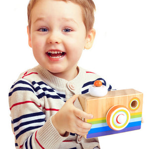 FREE!! Rainbow Stripe Wooden Camera - Montessori Toy Box