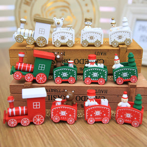 2018 Newest Mini Christmas Wood Train Christmas Innovative Gift Kid toys for Children Gifts Diecasts & Toy Vehicles - Montessori Toy Box