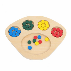 Montessori Wooden Color Sorting Game - Montessori Toy Box