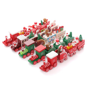 Santa's Colorful Christmas Trains