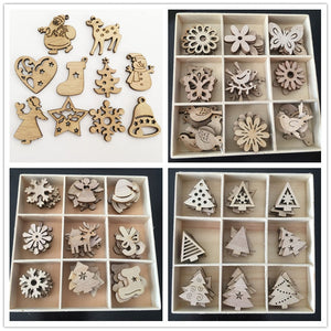 Natural Wood Christmas Tree Ornaments