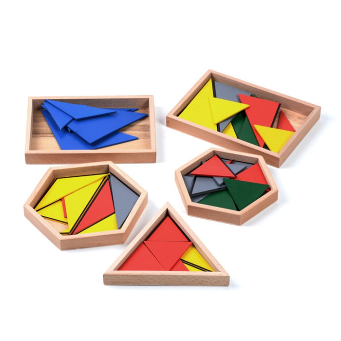 Montessori Constructive Triangles (5 Boxes)