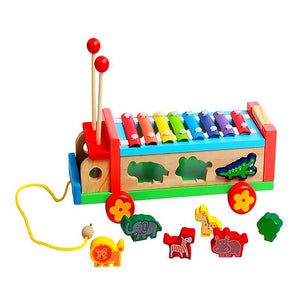 Xylophone Truck with Animal Shapes - Montessori Toy Box