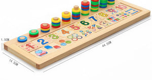 Learn To Count with Dominos and Rings - Montessori Toy Box