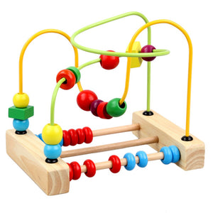Maze Roller Coaster with Green and Yellow Spirals - Montessori Toy Box