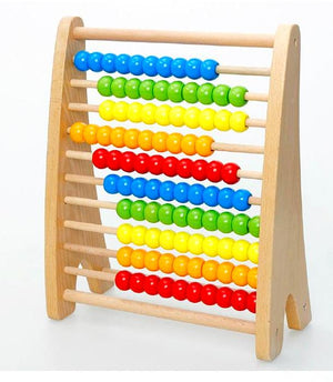 Wooden 100 Beads A-Frame Abacus - Montessori Toy Box