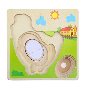 Egg to Chicken 3D Puzzle - Montessori Toy Box