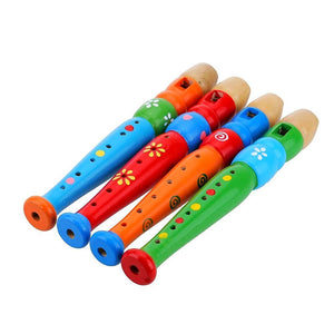 Wooden Piccolo Flute - Montessori Toy Box